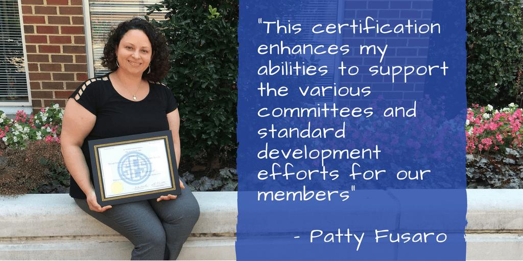 Standards Administrator Earns Astd Certification