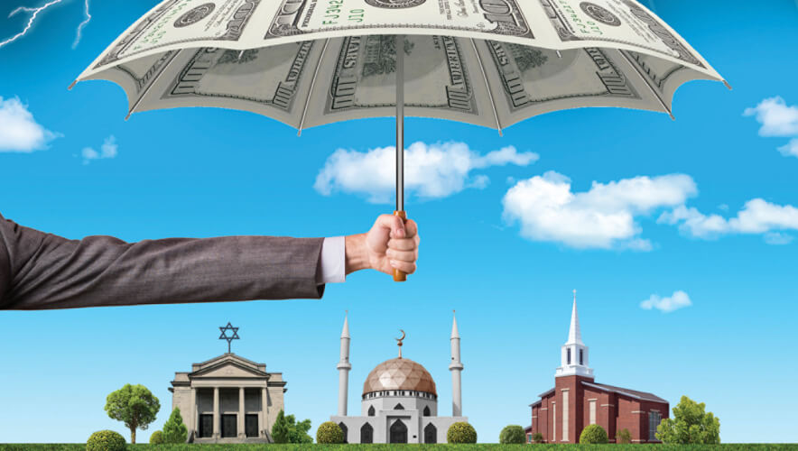 church mosque synagogue worship security funding