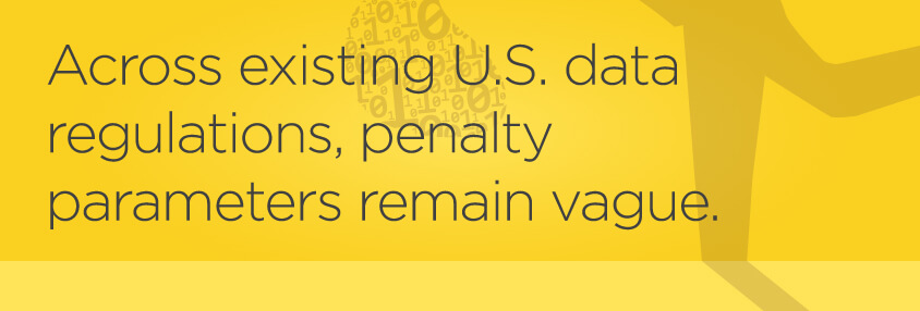 Pull quote: Across existing U.S. data regulations, penalty parameters remain vague.